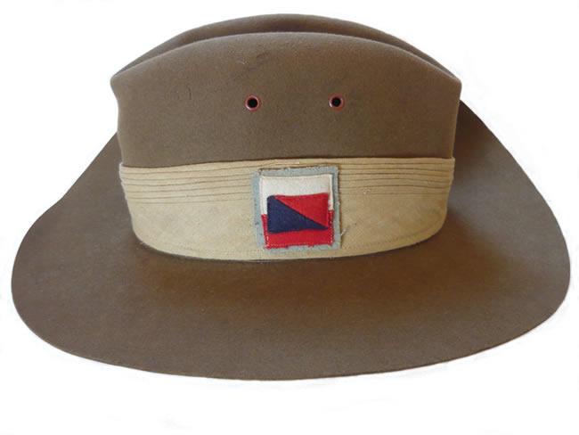 WW2 Australian Slouch Hat - 1942 (side view) 99c673ae7